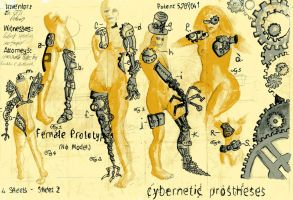 Female Cybernetic Prostheses by jenthestrawberry