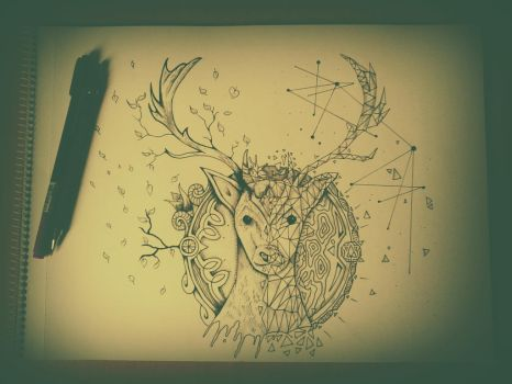 Deer Illustration by KEATONdesigns