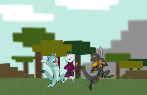 minecraft with friends by plaguedlord