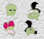Invader Zim Head Doodles #2 by mexican64