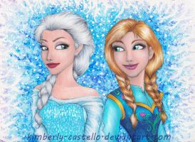 Frozen: Anna and Elsa by kimberly-castello