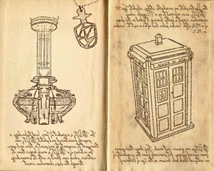 The TARDIS, Da Vinci style by madnesslab