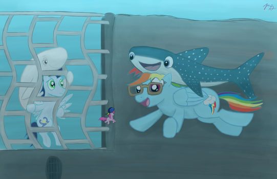 MLP/Finding Dory: Destiny Dash + Soarin Bailey' by PacificGreen