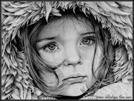 Little girl winter by Lianne-Issa