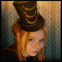 Evil Steampunk Ringleader Hat by SteamSociety