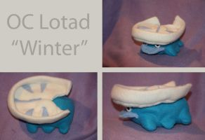 OC Winter the Lotad Plushie by VenomousDesires
