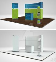 Trade Show Booth Mock Up by design-on-arrival