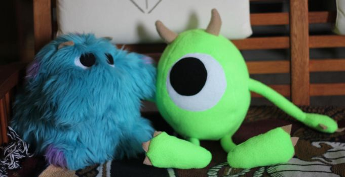 Baby Mike and Sully Plushes by Kayru-Kitsune
