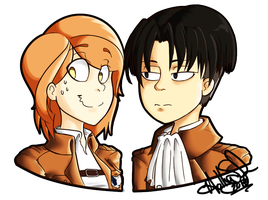 Levi x Petraaa by rainyfurz