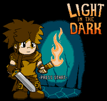 Light In The Dark (NES-like Title Mockup) by gamekrazzyproduction