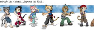 Therians- The Chibis by combatmaster