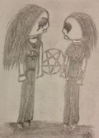 Satanic Black Metal Couple by labyrinthofdoom