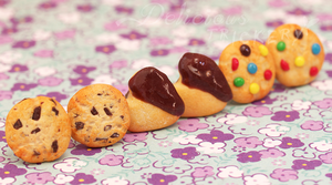 Itty Bitty Cookie Earring Set by DeliciousTrickery