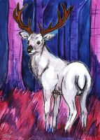 Watercolour Frost Card Design by BumbleBeeFairy