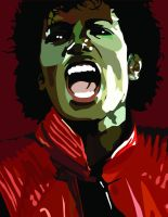 MJ Thriller Portrait by cassodinero