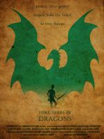 Here, There be Dragons Fan Poster - Artus by Xzyavy