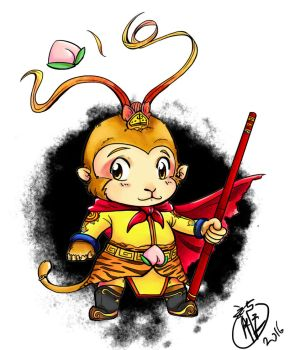 Monkey King by selenaloong