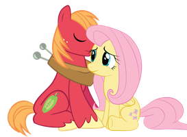 Fluttershy and Big Mac by Rebron-y