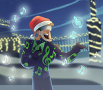 Music Meister singing christmas carols by pink-ninja