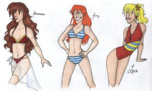 Beach Babes by french-teapot