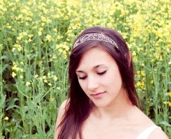 Silver filigree headband by MirielDesign