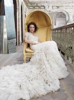 Baroque Inspired Vintage Wedding Dress with Lace by foxgowns
