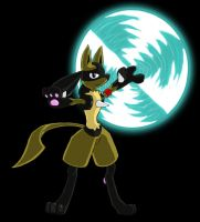 Arkail the Lucario by Eeveelutionist