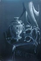 charcoal and chalk by daarka7