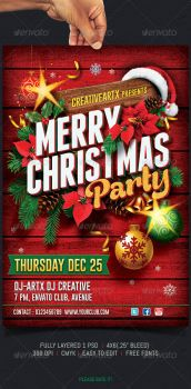 XMAS FLYER 2014 + PSD CHRISTMAS by AudioNeptune