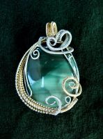 Wire Wrap Pendant by Jwall805