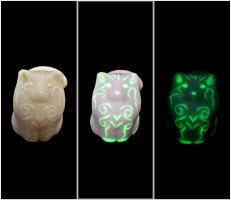 Glow in the dark/Fluorescent Ghost cat For SALE by MyselfMasked
