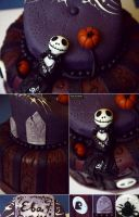 Skeleton cake by Evelin-Novemberdusk