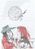 alucard and a friend2 by Eilesselas