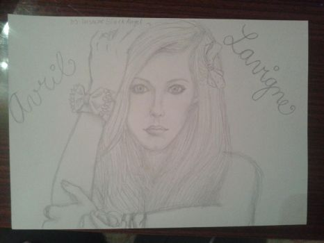 Avril Lavigne (sketch) by InsaneBlackAngel