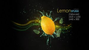 Lemon Splash Wallpaper by Martz90