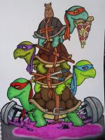 Turtles by oPyknic