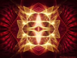 Pretty Red Fractal by charcoaledsoul