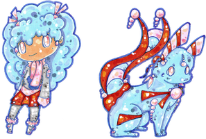 ~ !Adopted Bubblegum Tea Designs! ~ by angel-of-time