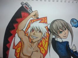 Soul and Maka by Groxee