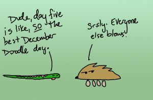 DECEMBER DOODLES 2012- DAY 5 by sadwonderland