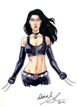 X-23 marker sketch by mechangel2002
