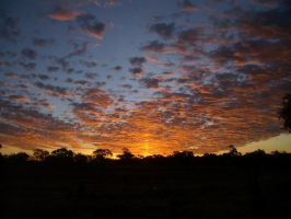 Burning sky by CAStock