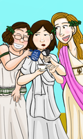 TGWTG Tarot - Three of Cups by robynred