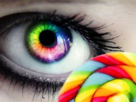 Rainbow Candy Eye by OmgItsManders