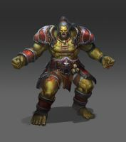 fan art  from  World of Warcraft Orc by BOOM8293