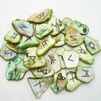 Green Abalone Shell Runeset by poisons-sanity