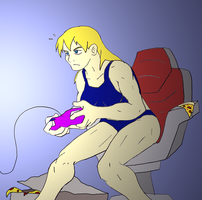 Samus' downtime by NickinAmerica