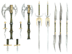 Mythical Weapons PNG Stock by Roys-Art
