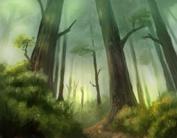 Speedpaint Forest by Joey-B