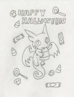 Happy Halloween from Chibi Qujin sketch by Poorartman